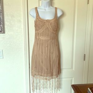 """""""Lotus"""" Beaded and Embroidered Cocktail Dress 4"""